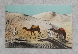 "Cartolina Illustrata ""Au Désert"" Da Misurata Per Città Di Castello, 1932 - Libya"