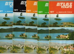 Lot - 5 Tourism Brochures 1977 - Dubrovnik,Croatia - Tourism Brochures