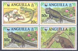 1997. Anguilla, WWF, Iguana, 4v, Mint/** - Anguilla (1968-...)