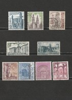 Espagne - Lot De 9 Timbres - Les Eglises - Cathédrale Burgos, La Mezquita Cordeba, Valencia, Barcelona, Logrono, Leyre - Spagna