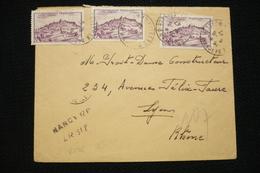Lettre Recommandé Provisoire Nancy 9/8/1947 Avec 3x N°759 Vézelay - Marcophilie (Lettres)