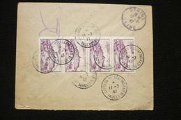 Lettre Recommandé Provisoire Paul Laval  Avignon Place Stalingrad 11/7/1947 Avec 4x N°759 Vézelay - Marcophilie (Lettres)