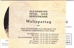 Pochette De 6 Buvards (loscher) - Allgemeine Spar- Und Rentenkasse - Weltspartag - ( Caisse Générale D'epargne...) - Banco & Caja De Ahorros