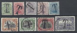 Nr TX17-25 Gestempeld - Briefmarken