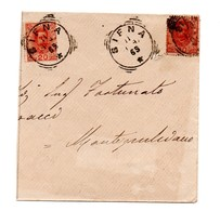 FRANCOBOLLO SU BUSTA SIENA 1898 - 1878-00 Umberto I