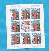 2000 EUROPA CEPT MONTENEGRO CRNA GORA   10 X KLB- 80 STAMPS MNH - Montenegro