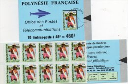 POLYNESIE 1993 CARNET N° C427**  PECHE COULEUR LAGON - Cote 18  € - Carnets