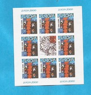 2000 EUROPA CEPT  MONTENEGRO CRNA GORA 10 X BLOK MNH - Kosovo