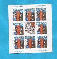 2000 EUROPA CEPT  MONTENEGRO CRNA GORA 10 X BLOK MNH - 2000