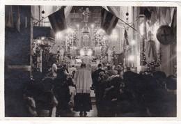 13 / MARSEILLE / LES CAILLOLS / 2 RARES PHOTOS 1947 / MESSE A LA PAROISSE CURE BARTHELEMY ET MONSEIGNEUR EVEQUE ET CURE - Les Caillols, La Valentine