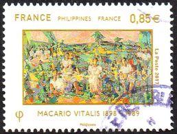 France Oblitération Cachet à Date N° 5159,- Relations Avec Les Philippines (0.85) - Used Stamps