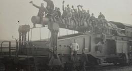 Photo ABL RAILWAY Railroad HEAVY GUN SK L/40 Bruno 280mm Artillerie Sur Voie Ferrée BRASSCHAAT 1927 Train Trein - Guerre, Militaire