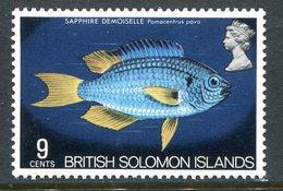 British Solomon Islands 1972-73 Butterflies, Fish And Flowers - 9c Value MNH (SG 225) - British Solomon Islands (...-1978)