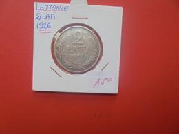 LETTONIE 2 LATI 1926 ARGENT (A.12) - Latvia