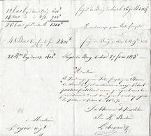 1815 FORGES Du BOURG DE SIROD (39) ROULAGE - 3 Documents Pour MOREZ-du-JURA - Documents Historiques
