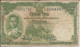 THAILANDE  -  20 Bath   Nd(1953)  -  Thailand - Thailand