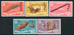 British Solomon Islands 1973 Musical Instruments Set MNH (SG 240-244) - Islas Salomón (...-1978)