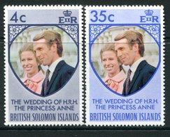 British Solomon Islands 1973 Royal Wedding Set MNH (SG 245-246) - Salomonen (...-1978)