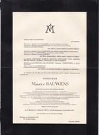 OOSTENDE BAUWENS Maurice 1868-1947 La Chaussure Président Société Courses D'Ostende Jockey Club élevage Chevaux - Décès