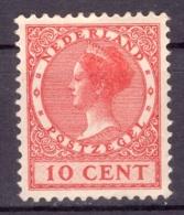 Pays-Bas 1924/1925 - MH* - Wilhelmine - Michel Nr. 154 (ned315) - Unused Stamps