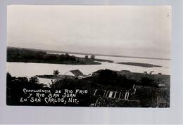 Nicaragua Confluencia De Rio Frio Y Rio San Juan En San Carlos Ca 1930 A. Diaz Photo Old Postcard - Nicaragua