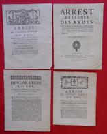 1716-1766 Lot De 30 Arrest Conseil Du Roy Originaux Royauté Roi Port Suivi Inclus Pour Europe A SAISIR ! - Documents Historiques