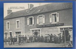 MONESTIER   Epicerie Et Hôtel Du Commerce PENOT   Animées  écrite En 1921 - Frankreich