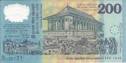 SRI LANKA   -  200 Roupies   1998   -- UNC  --   Polymer - Sri Lanka