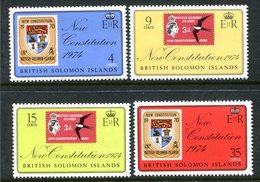 British Solomon Islands 1974 New Constitution Set MNH (SG 262-265) - Islas Salomón (...-1978)
