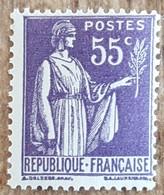 YT N°363 - Paix 55c Violet - 1937/39 - Neuf - Ongebruikt