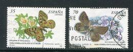 ESPAGNE- Y&T N°3261 Et 3262- Oblitérés (papillons) - 1931-Hoy: 2ª República - ... Juan Carlos I