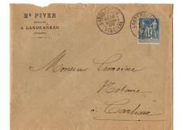 B17 10 03 1900 LETTRE Landerneau  Carhaix  (dept   22   29) - Marcophilie (Lettres)