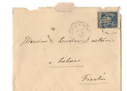 B17 12 06  1894 LETTRE Brest St Brieuc Morlaix  Pontivy Carhaix  (dept   22  35 29) Ambulants - Postmark Collection (Covers)