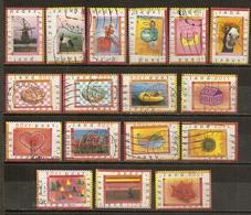 Pays-Bas Netherlands 1998 20 Timbres De Surprise Avec Moulin Windmill, Etc Etc Obl - Periodo 1980 - ... (Beatrix)