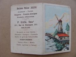 Calendrier 1923 ORLEANS Gasc Rue De Bourgogne Droguerie Parfumerie  Produits Chimiques Huiles Verre Brosse Clou - Calendars