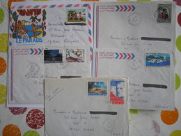 Polynésie -  5 Belles Enveloppes Années 1980/81 - Collections, Lots & Séries