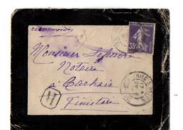 B17 29 05 1908  Lettre Recommandée Carhaix  Riec Sur Belon Quimperlé                (dept 29) Cachet De Cire - Marcophilie (Lettres)