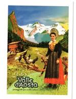 Cartolina Postcard  Carte Postale Postkarte L'ESTATE IN VALLE D'AOSTA COSTUMI TRADIZIONALI - Italia