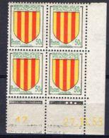 FRANCE (COINS DATES) : Y&T  N° 1044  DU  27/11/1955  TIMBRES  NEUFS  SANS  TRACE  DE  CHARNIERE ,   A  V0IR . - Hoekdatums