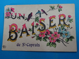 """33 ) Saint-caprais """" Un Baiser  - EDIT - Harrl - France"""