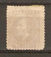 Sarawak 1875 - Sir Charles Johnson Brookes -  2 Cents - NSG - Sc 3 - Sarawak (...-1963)
