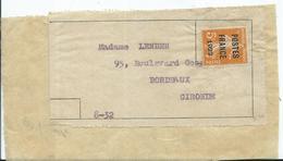 PREOBLITERE - POSTES FRANCE 1922 Sur étiquette  ( Signature) - Marcophilie (Lettres)