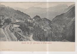 CPA-74-Haute Savoie- Route De St-Gervais à Chamonix- - Saint-Gervais-les-Bains