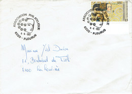 Association Philatélique Fleurus Enveloppe Avec Cachet 1er Jour Du Timbre Europalia 87 (Autriche) Du 4/4/1987 (COB 2247) - FDC