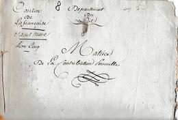 An 5 SAINT MARC Départ; De LA FRANCAISE (46) - MATRICE De LA CONTRIBUTION PERSONNELLE - Documents Historiques