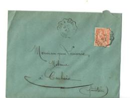 B17 21 05 1908 Lettre   Rostrenen Carhaix  (dept 22 29) Cachet Ambulant - Postmark Collection (Covers)