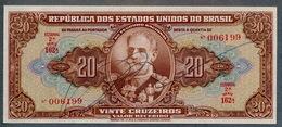 Brésil P 144  20 Cruzeiros 1950   SIGNATURE RARE  *** UNC - *** Série 162 N° 006199 - Brazil