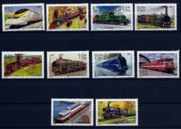 """FR YT 3405 à 3414 """" Légende Du Rail : Locomotives """" 2001 Neuf** - France"""