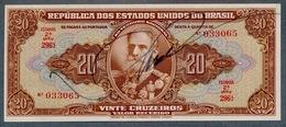Brésil P 144  20 Cruzeiros 1950   SIGNATURE RARE  *** AUNC  *** Série 296 N° 033065 - Brazil