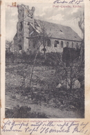 Alte Ansichtskarte Aus Poelkapelle - Zerstörte Kirche - - Langemark-Poelkapelle
